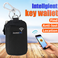 Super effective China blank leather key chain Mobile control smart wallet