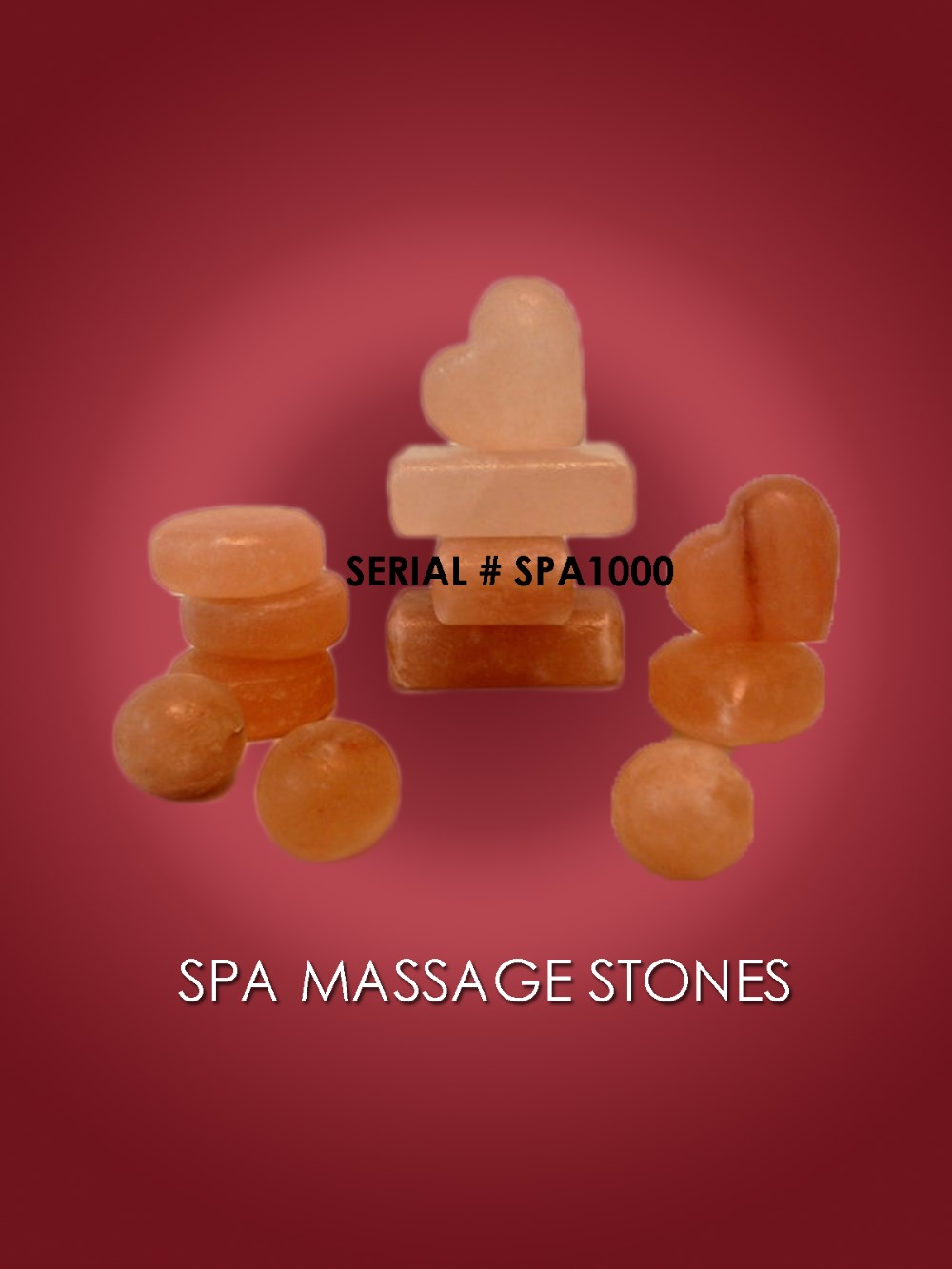 Organic Female Body Use Crystal Himalayan Massage Salt Stone