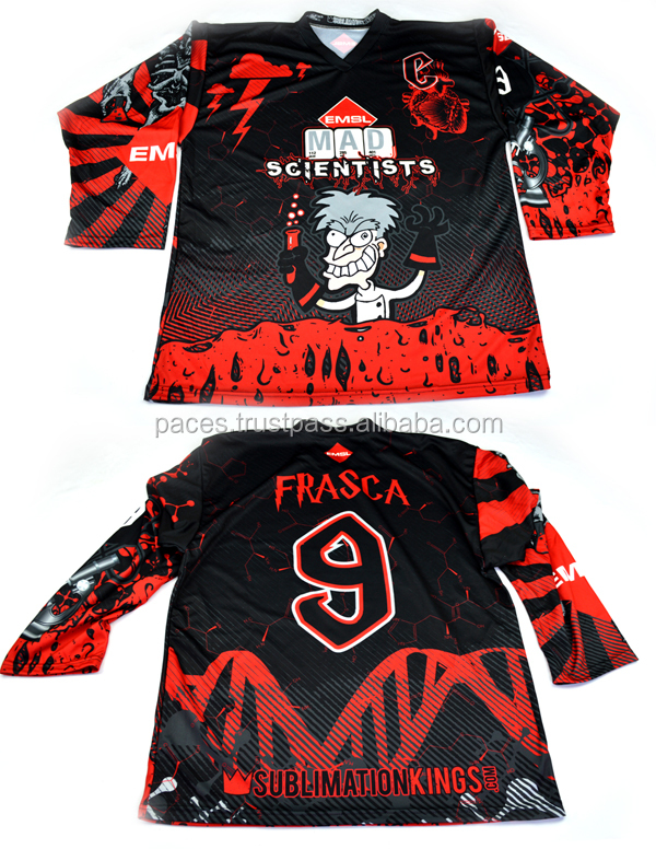 Full Sublimation Printing Customized Ice Hockey Tops