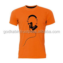 Classy/ Light orange color royal look best and the latest design your own t shirt /fashion t shirt multi colored t shirts.