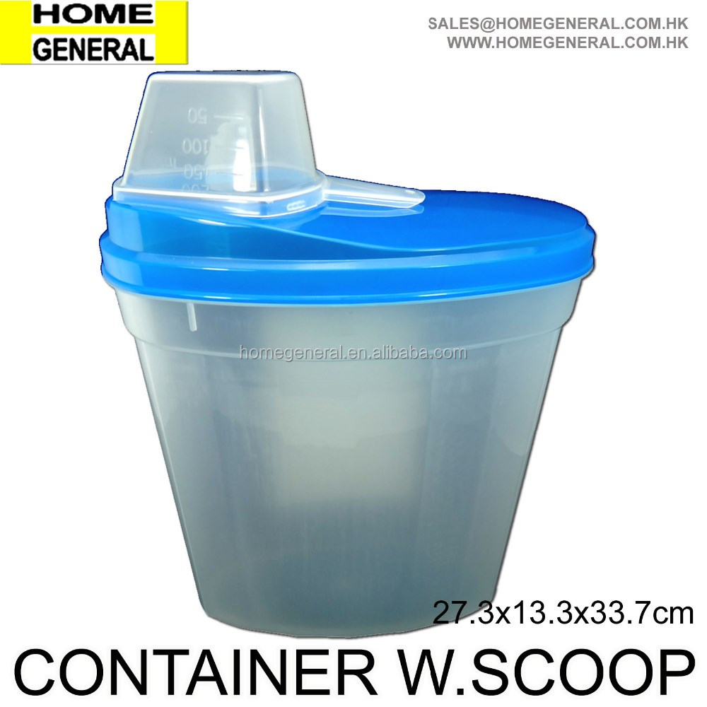 STORAGE GENERAL, PLASTIC STORAGE CONTAINER WITH LID AND SCOOP, STORAGE CONTAINER WITH SCOOP, PET FOOD CONTAINER WITH SCOOP, HK