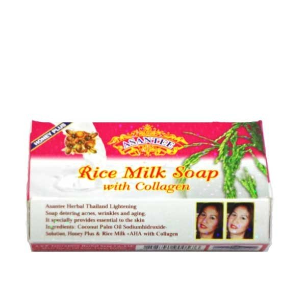 Asantee Rice Milk Soap with collagen