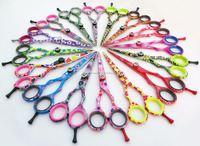 440C Steel Professional Hairdressing Scissors/ Hair Cutting Scissors With Colorful Patterns/ Professional Hair Cutting Scissors
