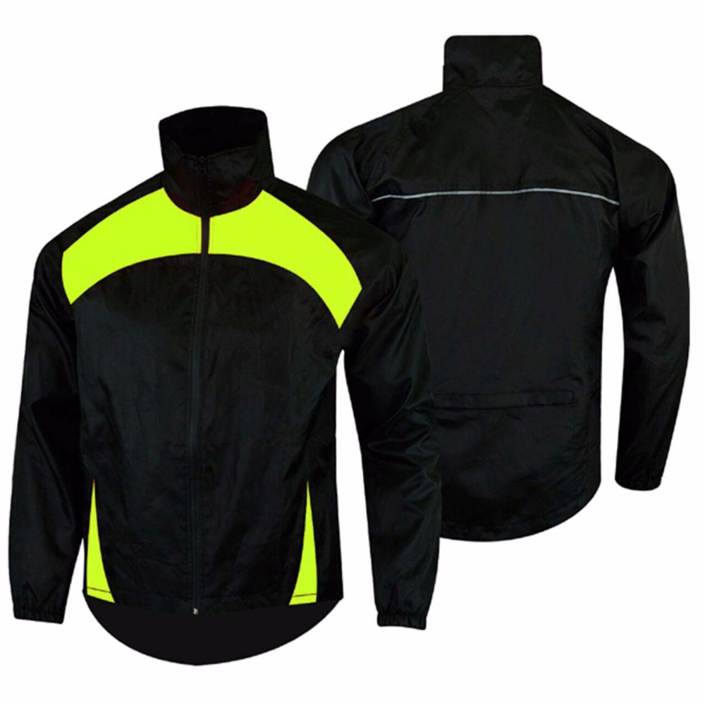 Parrot /black Contrast color Men's rain jacket
