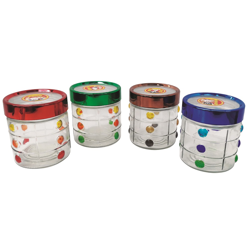 4 pieces set of Glass Food Container
