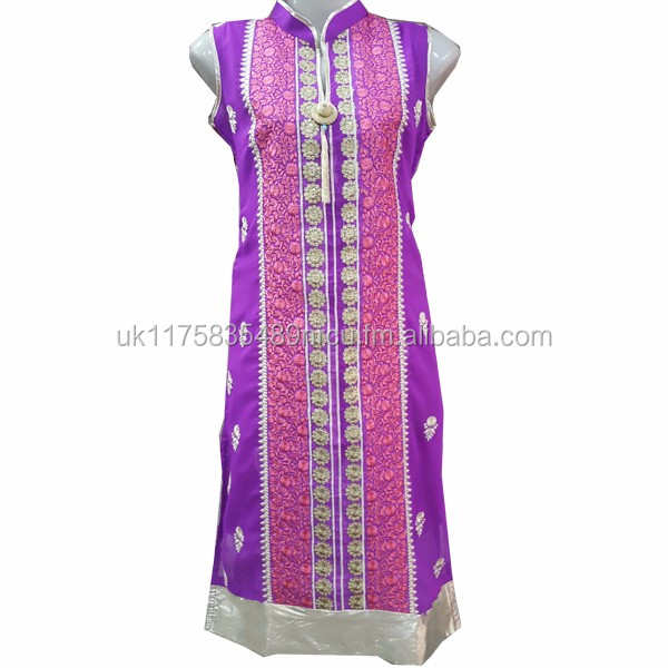 Crinkle chiffon 3 Piece embroidery dress for girls Pakistani Indian Wear