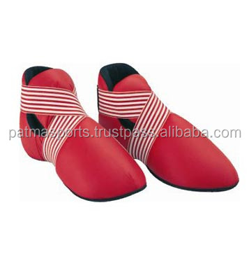 Low Price Hot Selling Custom Artificial Leather PU Boxing Karate Safety Kick Shoes / Boxing Gear and Apparels