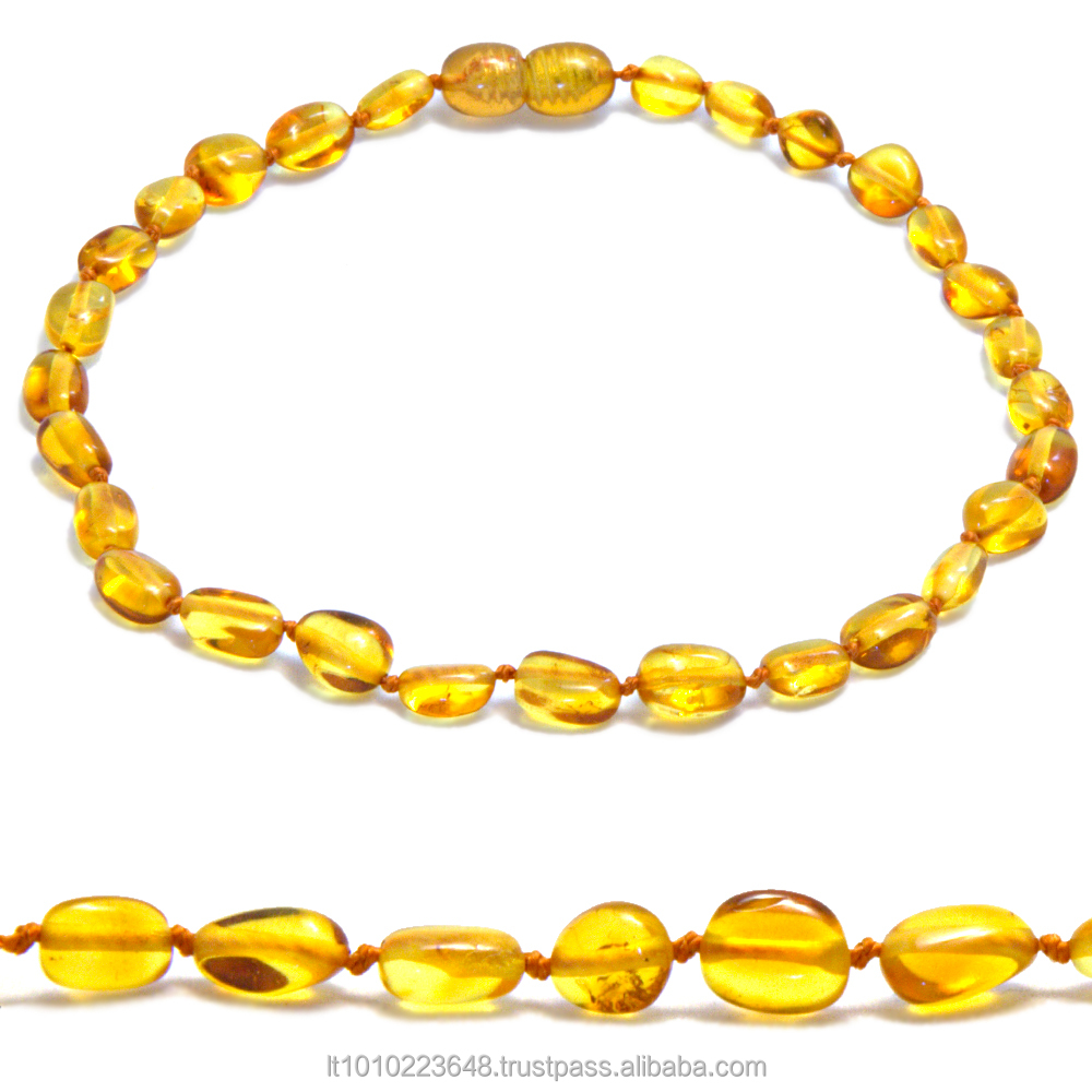 Genuine Baltic amber baby teething necklaces wholesale