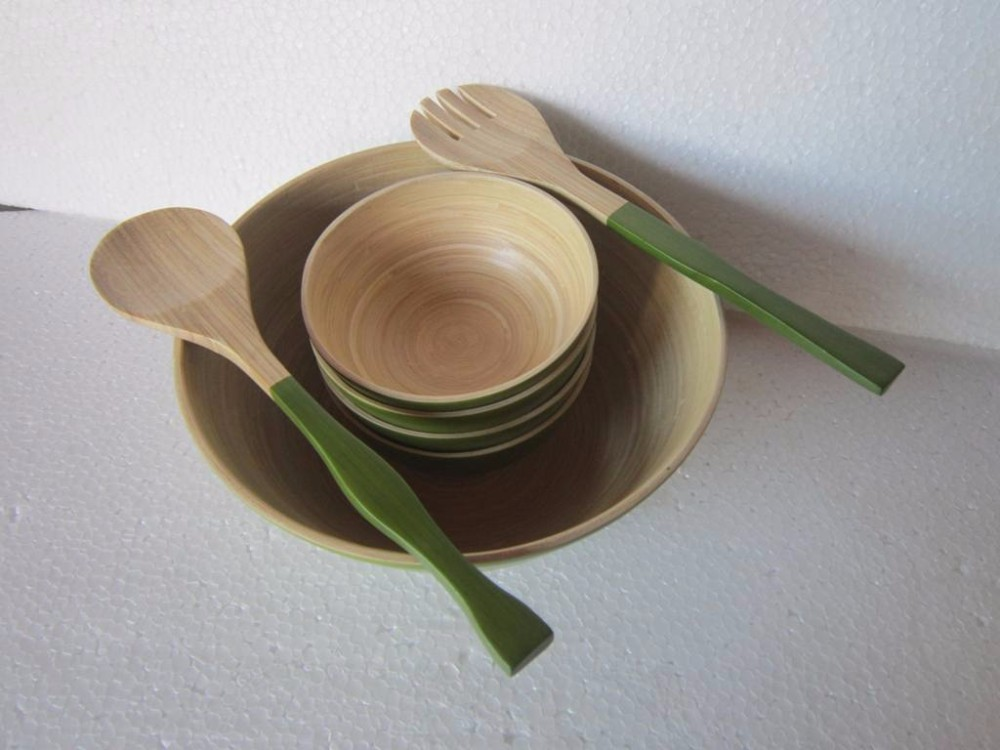 Eco-friendly set of bamboo and spoon & forks made in Vietnam