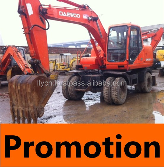 13TON WHEEL EXCAVATOR DOOSAN DAEWOO USED WHEEL EXCAVATOR 130-5 13TON FOR SALE CHINA
