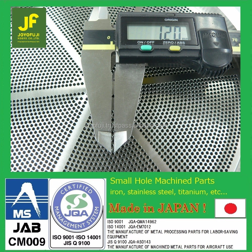 Spinneret Japan drilling machine service made with jig borer