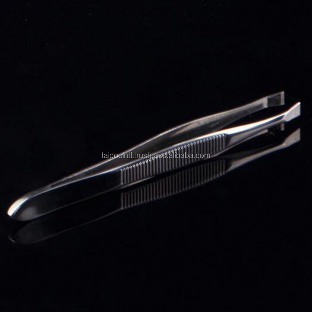 Women Stainless Steel Tweezers Shape Tool Eyebrow Tweezers Face Nose Hair Clip