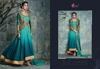 Long Traditional Gown Partywear Anarkali Suit Indian Bridal Designer Salwar Kameez