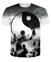 New 2016 Ying Yang Forest design sublimation t shirt at berg in pakistan/AT BERG