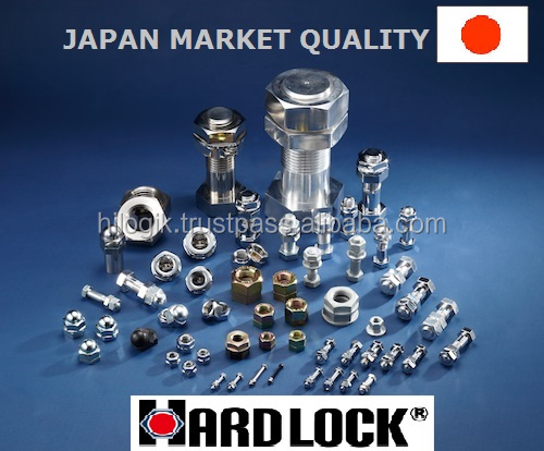 Safety is power ! high quality HARDLOCK nut recognized by the world, construction material made in Japan