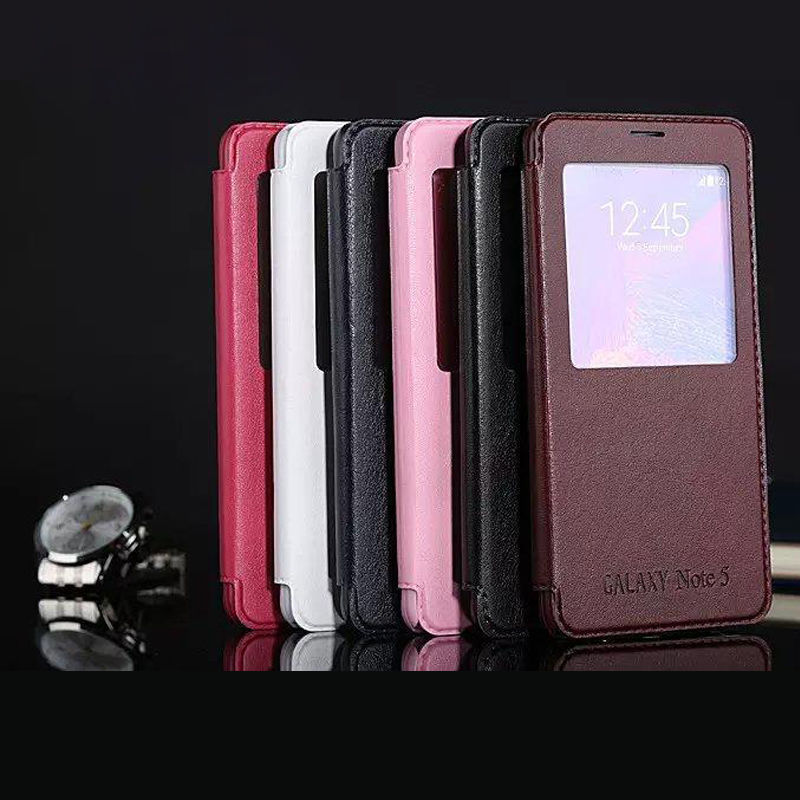 IMPRUE Leather flip stand case for samsung Note5