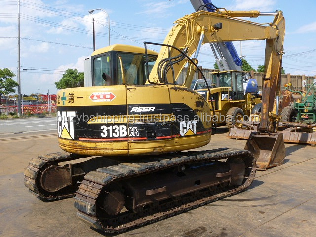 Used building excavator CAT 313B, old/half new Caterpiller crawler excavator 313B 313C 313 312 for sale!