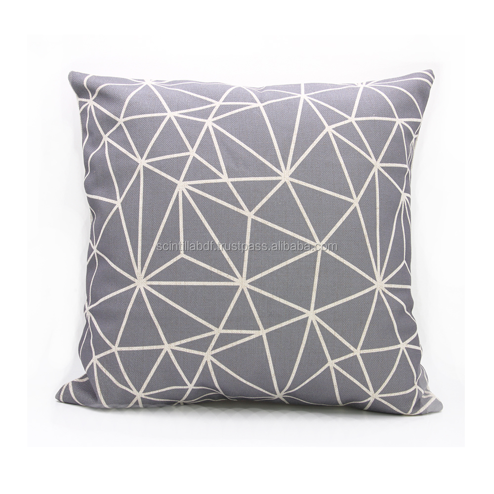 LG0038,Free Shipping,1pc,Geometric Lounge Nature Cotton Linen Throw Cushion Cover, Custom Accept