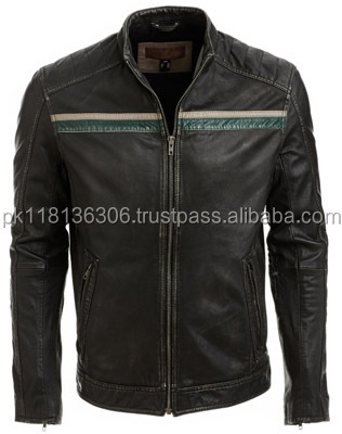 Top quality sale men's leather PU jacket