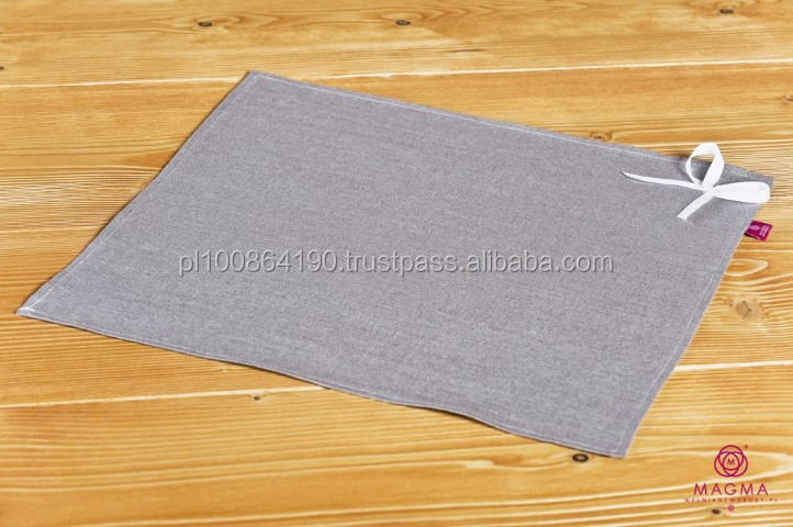 HIGH QUALITY 100% Flax / Linen tablecloth Manufacturer placemat / flax mat