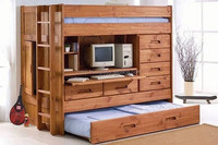 Cheap simple adult room pine wood wall bed murphy bed