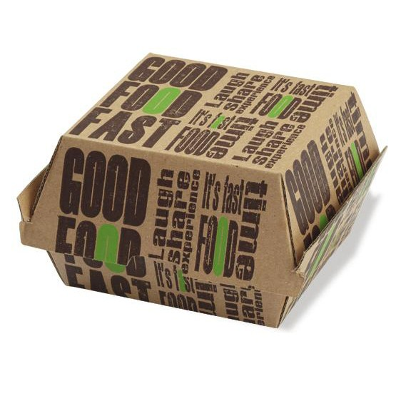 Customize Cardboard Paper Burger Packing Box