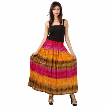 Manufacturer Indian Beautiful Girls Multi Color Long Skirts