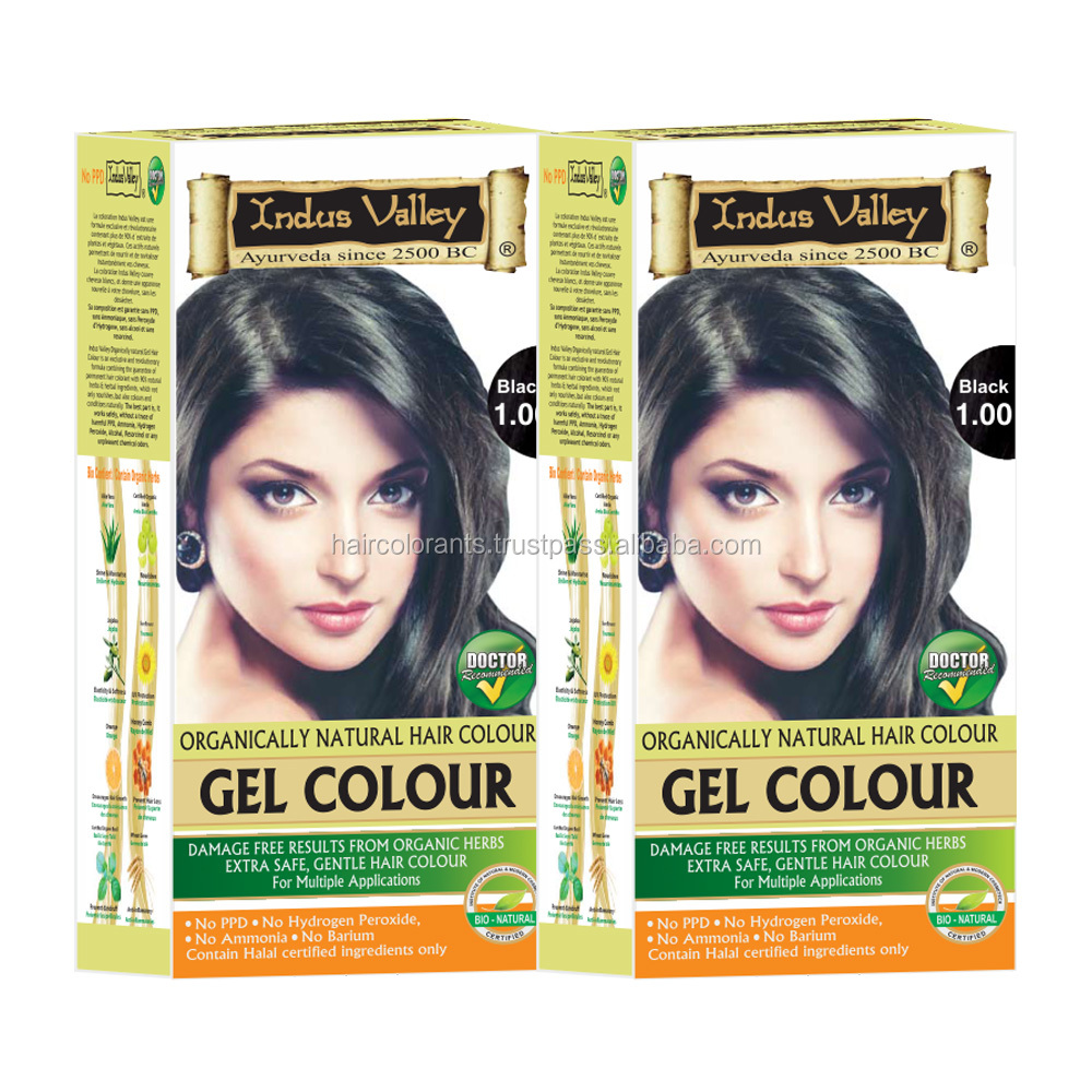 Indus valley Gel Colour permanent hair colouring in only one application