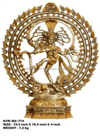 brass Nataraja in Gold and Silver Hues Sculpture