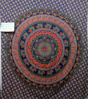 Indian printed tapestry mandala 3d Tie & Dye Printed Tapestry beach throw Indian fabric made Cotton tapestry wholesale