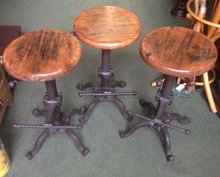 industrial vintage adjustable bar stools