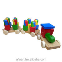 Wooden Train Blocks