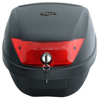 Easy attachment solidly-built body motorcycle luggage box for full-face helmets