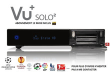 VU+ SOLO 2 + 1 year subcription cccam + support IPTV
