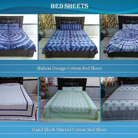 Indian Handmade Cotton Printed Bed Sheets