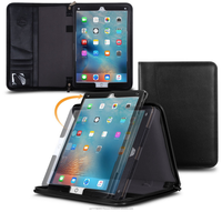 Executive Portfolio Genuine Leather Case with Detachable inner sleeve for handheld operation for iPad Pro 12.9 roocase (Blac)
