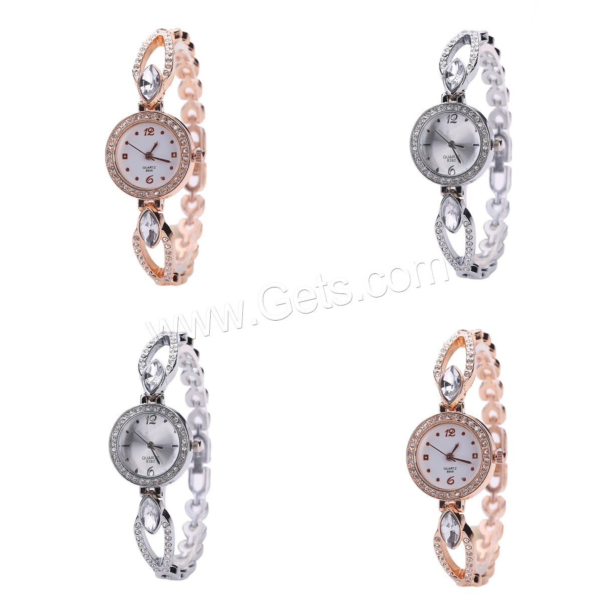 Women Wrist Watch Zinc Alloy stainless steel back geneva watch