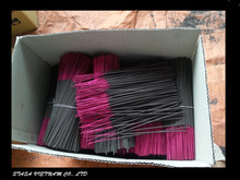 25 cm black charcoal incense sticks with pink legs