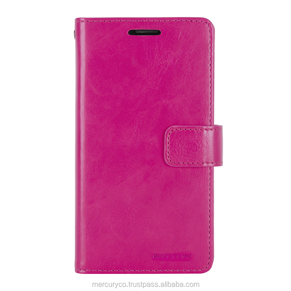 PU leather diary phone case Mercury Mansoor Diary (Hot Pink)