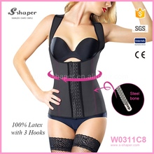 Latex Sport Vest,Waist Steel Boned Shaper,Waist Trainer Corset Wholesale W0311C8