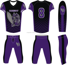 New design dye sublimation American football uniform