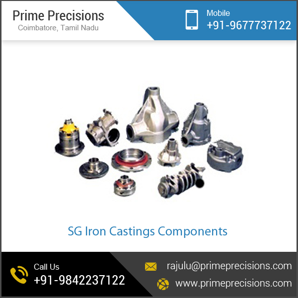 Renowned Manufacturer Supplying SG Iron Castings Components / Cast & Forged / Minerals & Metallurgy at Low Price