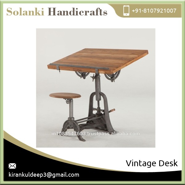 2016 Latest Design Eco-Friendly Vintage Drafting Desk Table for Sale
