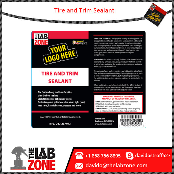Export Quality Tyre Sealant for Exterior Plastic Trim