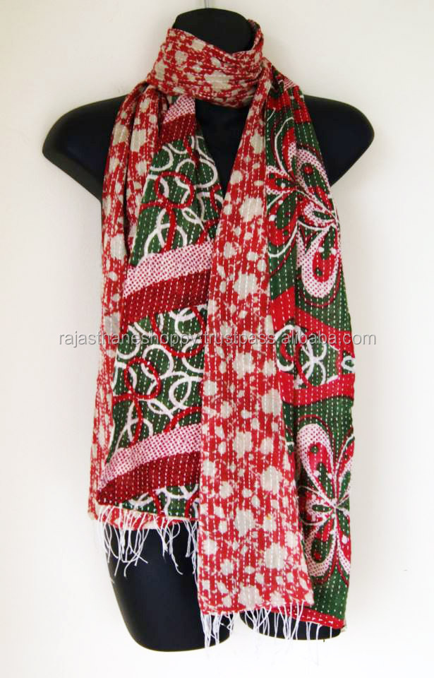 Girls Wear Fashion Kantha Scarf / Stole / Shawl