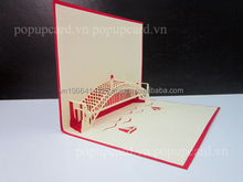 Sydney harbour bridge 2 (Australia) Building greeting pop up card