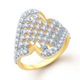 Gold Plated Fashion Ring Fr140 For Women