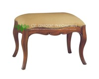 Bed End Stool French Style Furniture - Classic Ottoman - Bed Room Indonesia Furniture