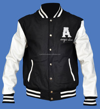 Embroidered letterman Cusom Varsity Jackets Supplier , Baseball Jackets With Embroidetry Supplier
