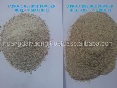 Good animal feeding product from Tapioca residue powder